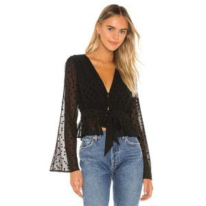 Privacy Please Marley Top in Black Dot